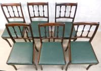 Set of Six Antique Style Mahogany Single Dining Chairs